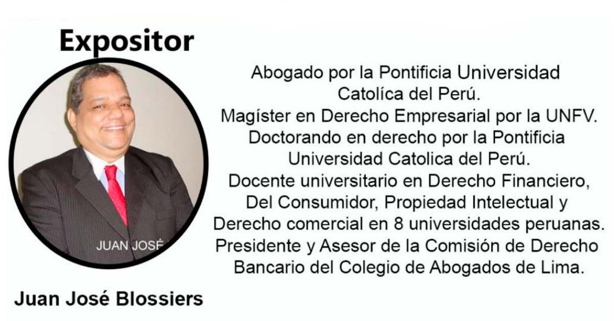 Dr MG Juan José Blossiers Expositor del Seminario Virtual en Universidad de Panamá