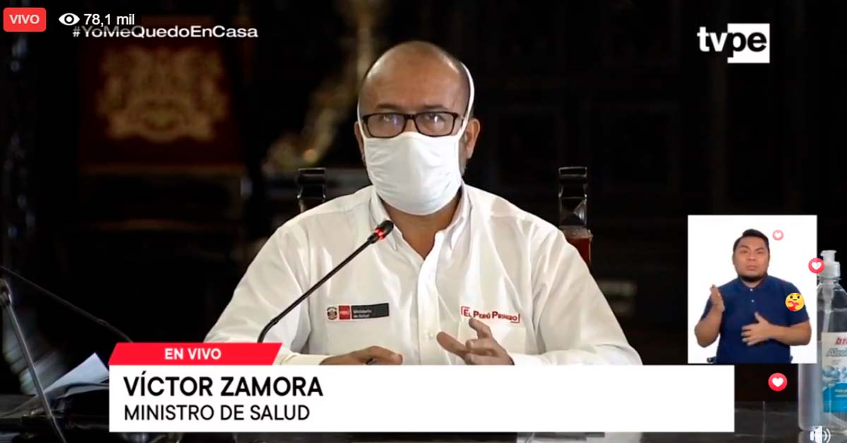 Ministro de salud Víctor Zamora