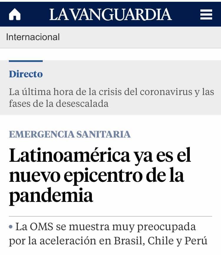 Más de un millón de contagios en Latinoamérica (La Vanguardia de España)