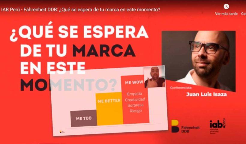 ¿Qué se espera de tu marca en este momento? - Juan Luis Isaza