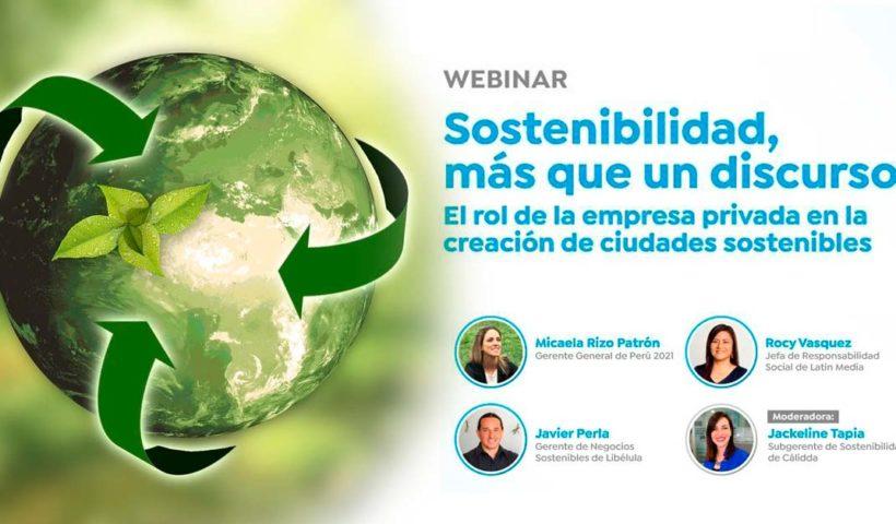Webinar: Sostenibilidad más que un discurso
