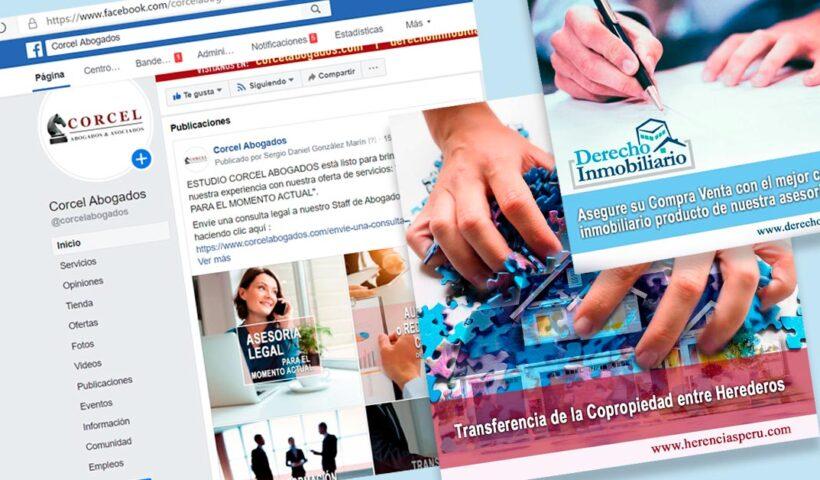 Campaña Orgánica y Pagada en facebook para Corcel Abogados - Portafolio Overflow.pe