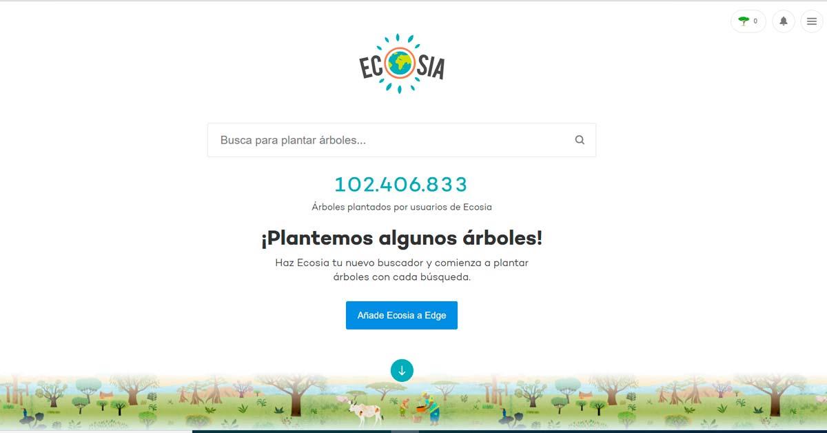 Ecosia el buscador que planta arboles con tu ayuda - Alerta Emprendedora Overflow.pe
