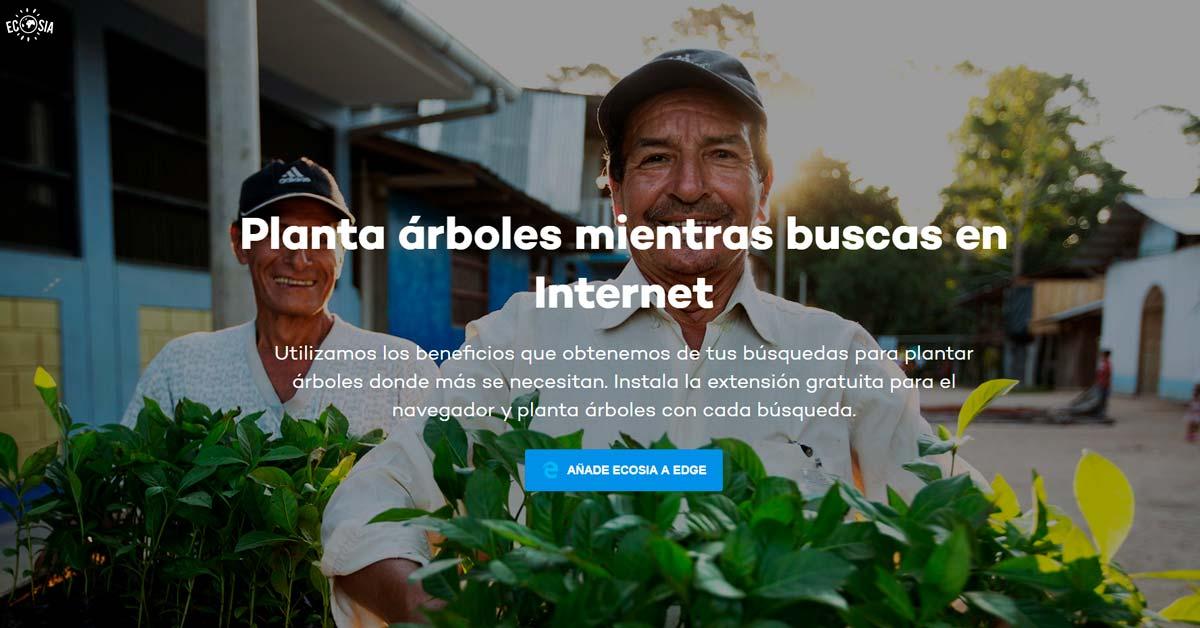Planta árboles mientras buscas en Internet - Alerta Emprendedora Overflow.pe