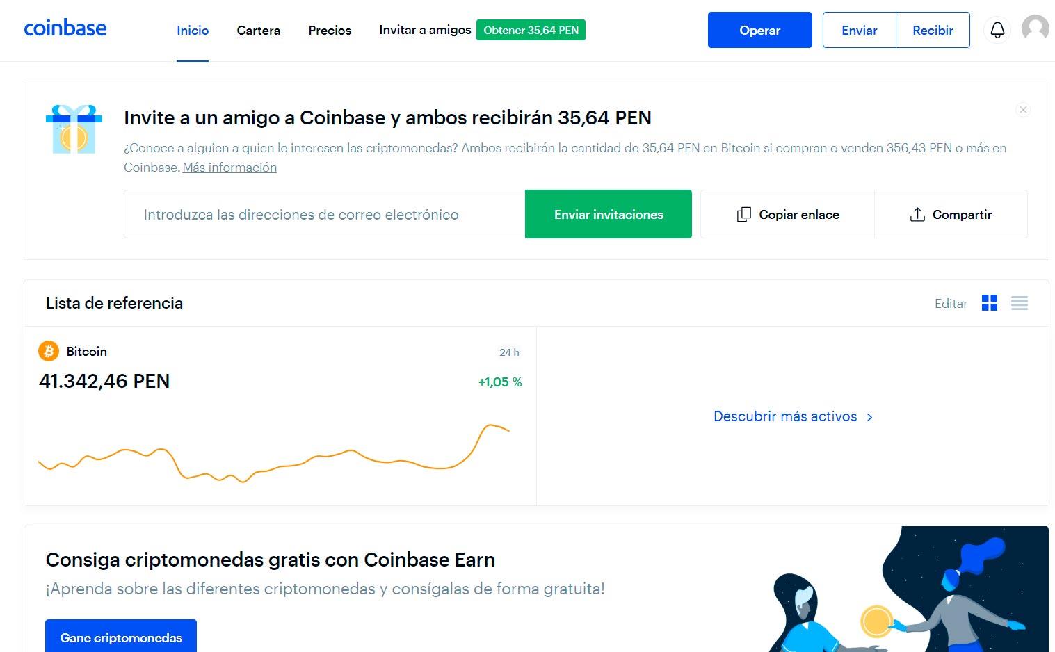 Beneficios con Coinbase - Alerta Emprendedora - Overflow.pe