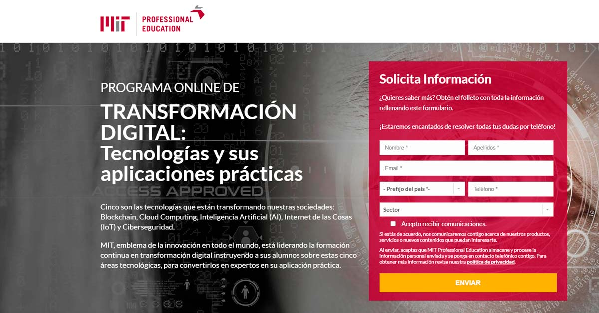 Programa online de transformación digital del MIT - Alerta Emprendedora Overflow.pe