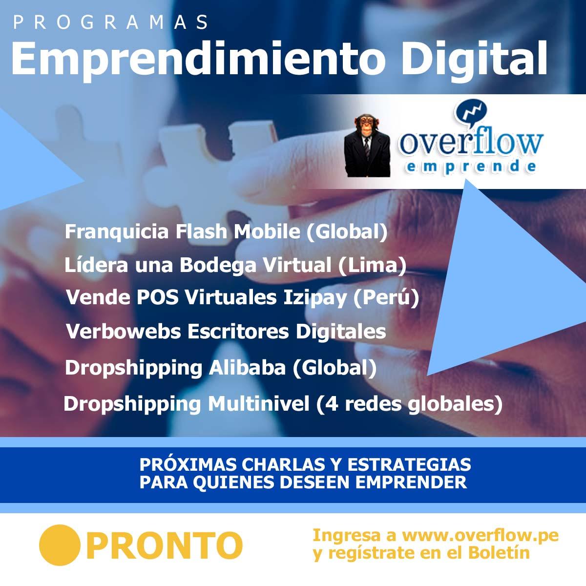 Programa Emprendedor de Overflow Emprende - Overflow.pe