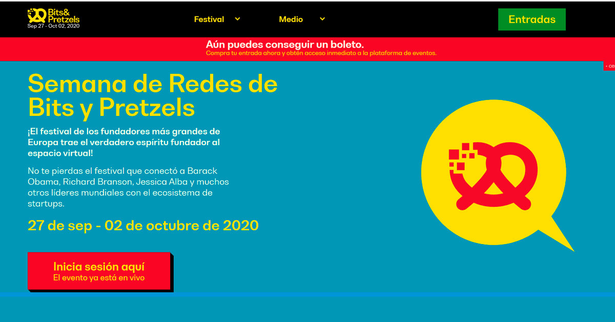 Concurso Alemán de StartUps Bits and Pretzels