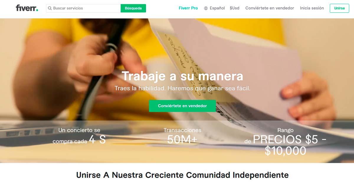 Fiverr para vender y emprender - Aplicaciones para Emprendedores - Overflow.pe