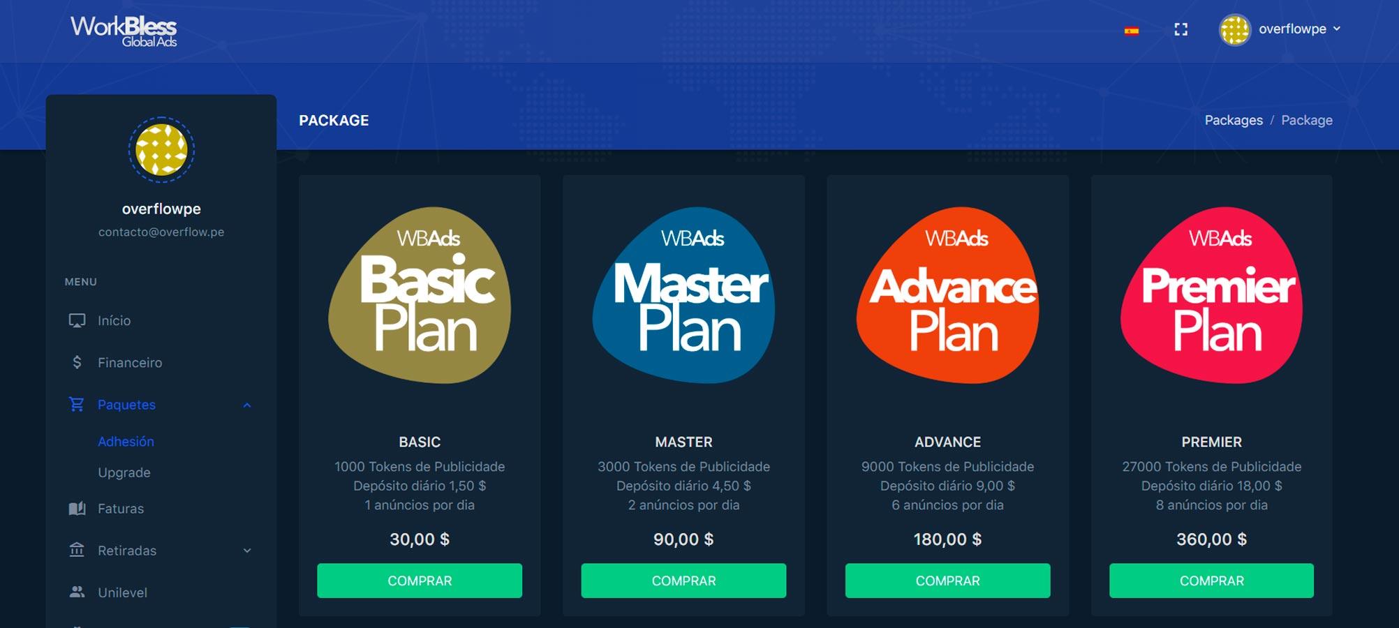 Primeras cuatro opciones de teletrabajo visualizando ads con Workbless - Alerta Emprendedora - Overflow.pe