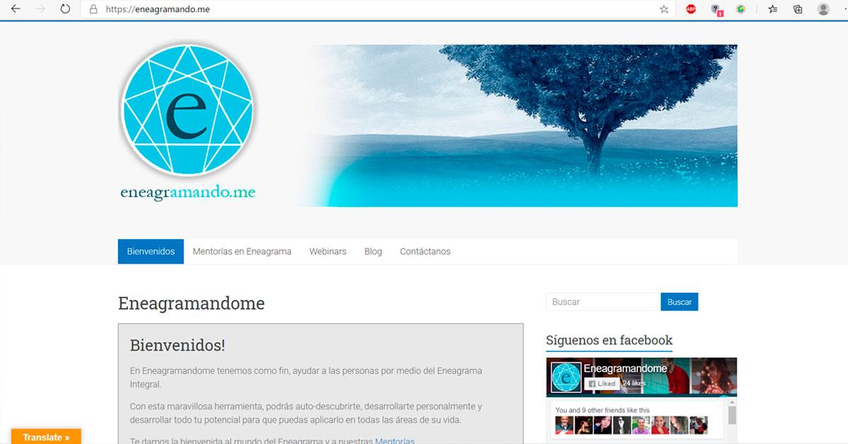 Sitio Web Eneagramando.me - Portafolio Overflow Emprende
