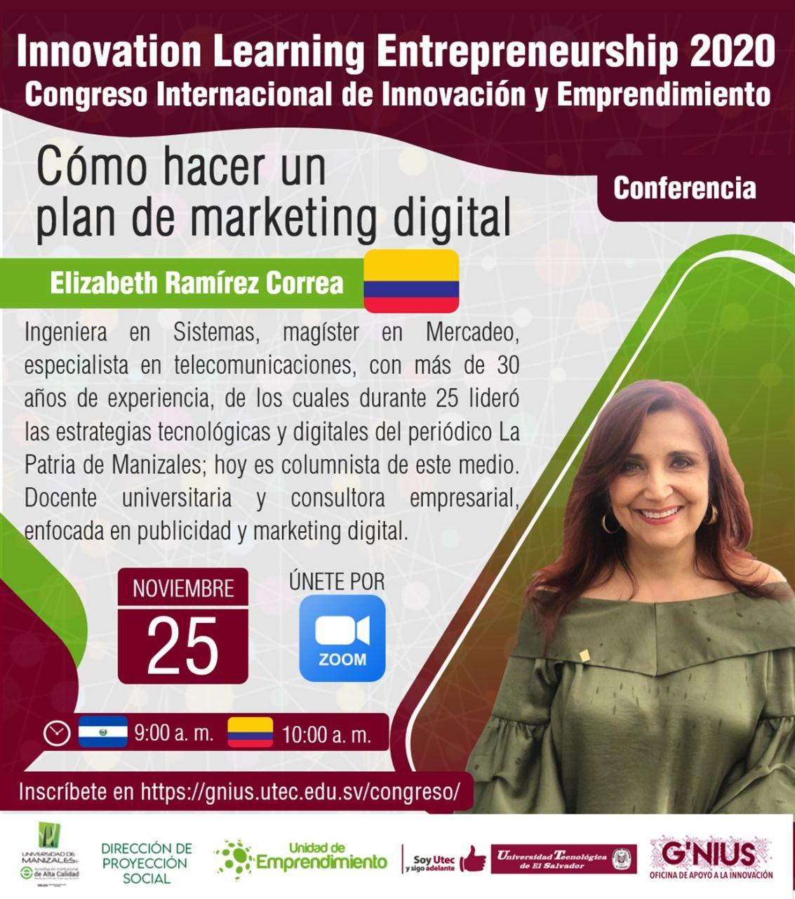 Ponencia sobre plan de marketing digital en Congreso de innovación en El Salvador