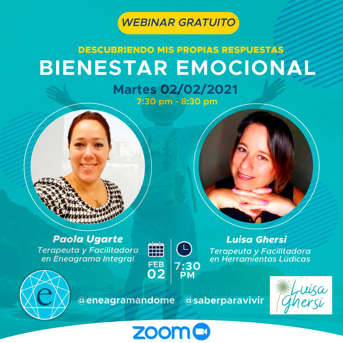 Webinar gratuito Bienestar Emocional