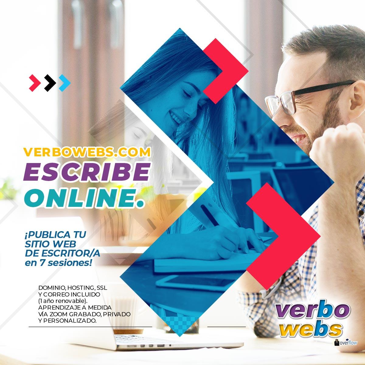 Suscribe ESCRIBE ONLINE con VerboWebs.com