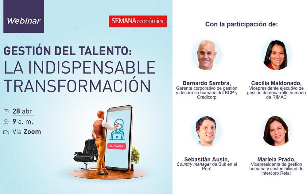 Expositores Webinar Gestión del talento: La indispensable transformación