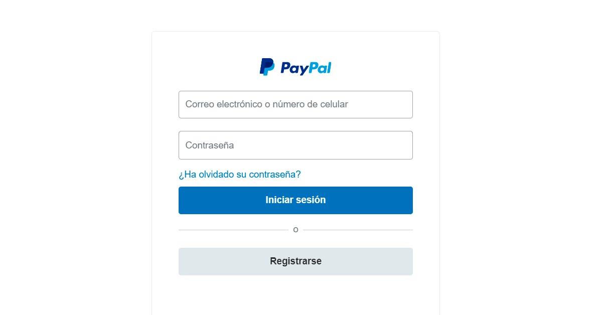 Inicia sesión en tu cuenta Paypal desde el link de la campaña