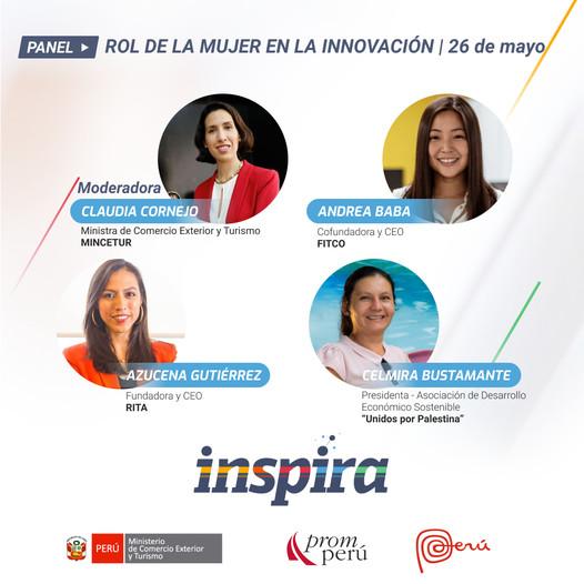 Ponentes del Festival Inspira - 26/05 - Rol de la mujer en la Innovación peruana