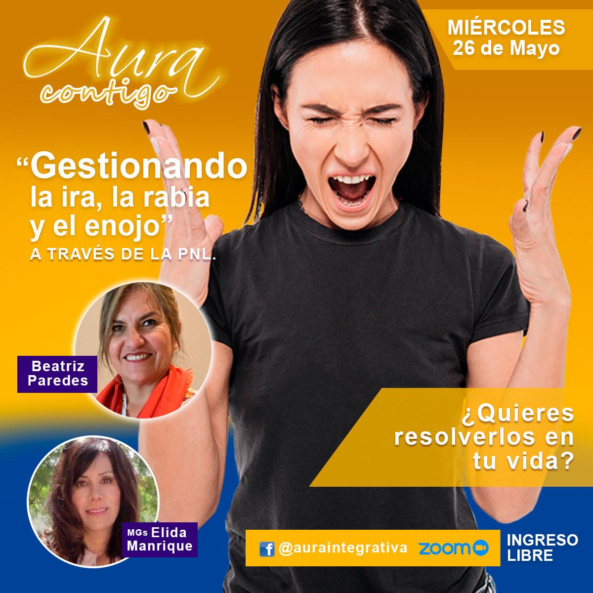Webinar sobre la gestión de la ira en Aura Contigo