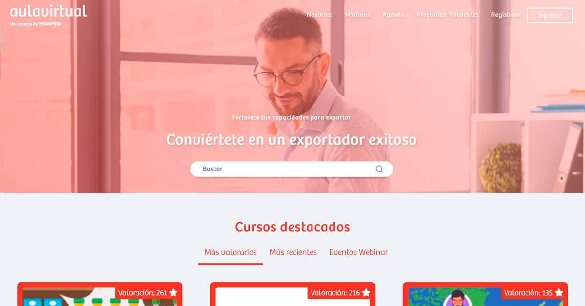Aula virtual exportaciones de PromPerú