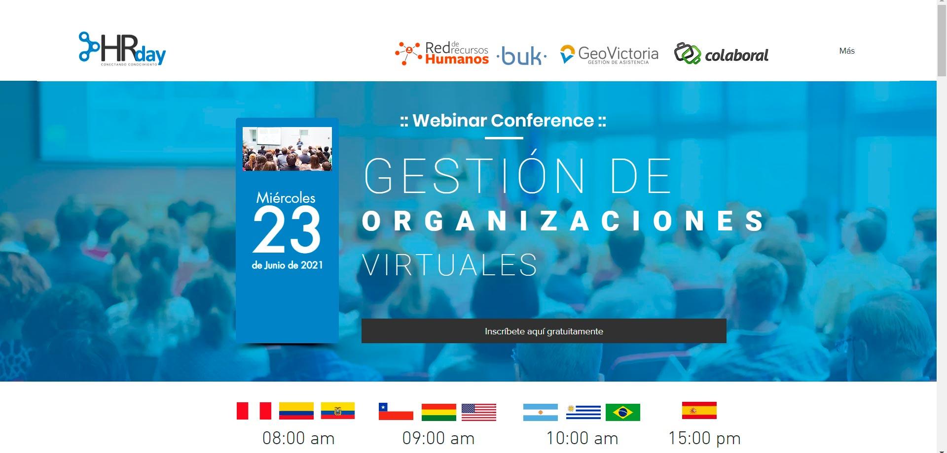 Sitio Web del 3er HDay en Santiago de Chile