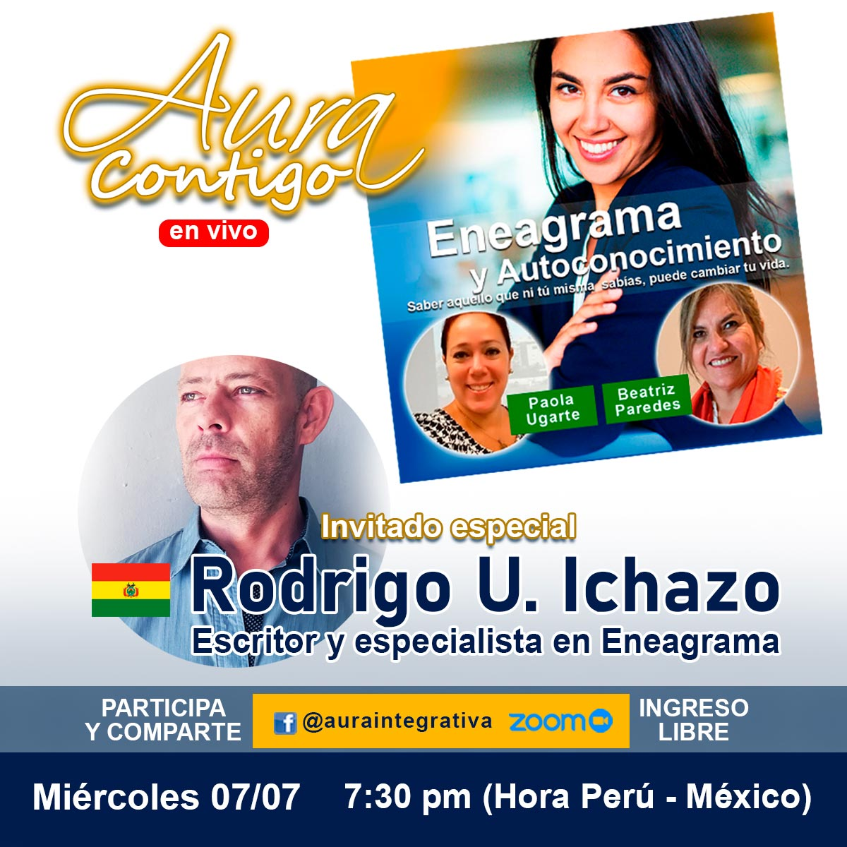 Rodrigo U Ichazo Invitado de Aura Contigo para hablar sobre Eneagrama