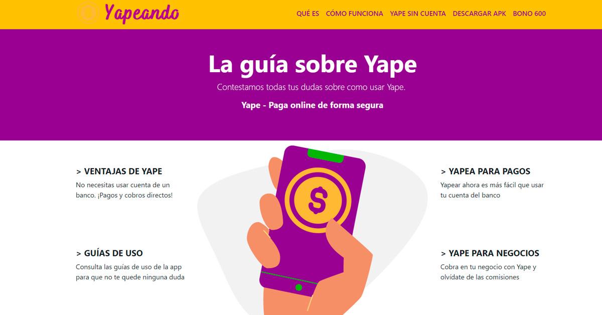 Aprender de Yape con Yapeando.pe