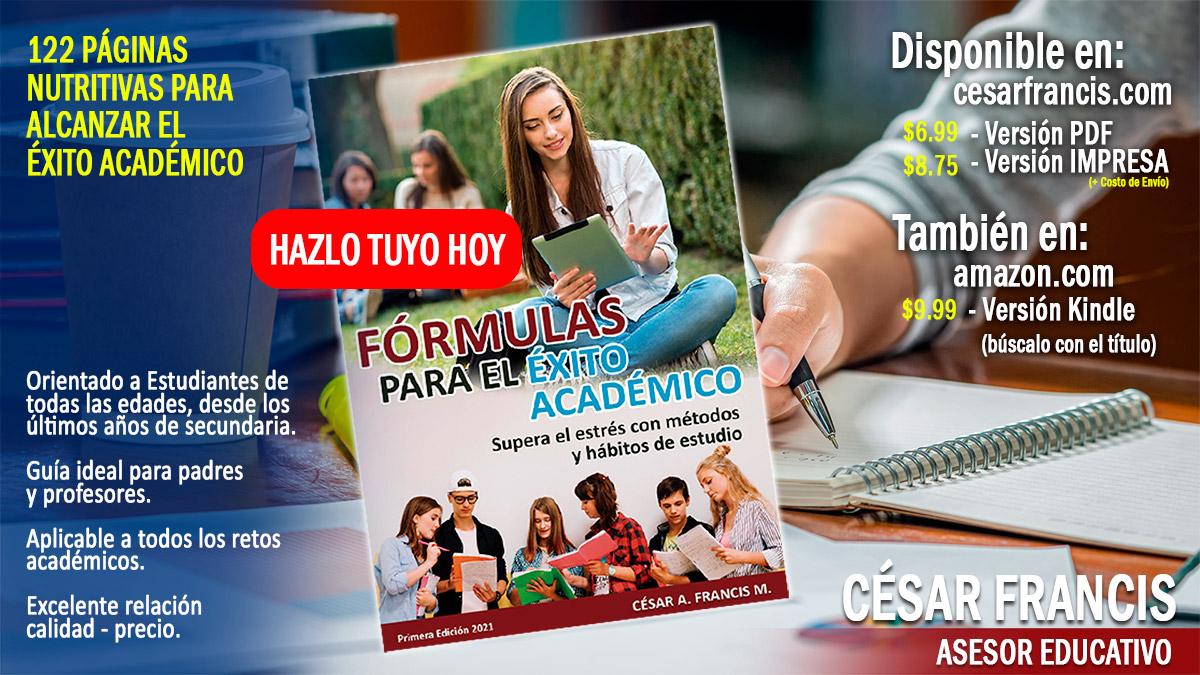 Servicio Integral para el Manual de hábitos de estudio de César Francis